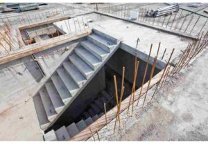 budowa, schody betonowe